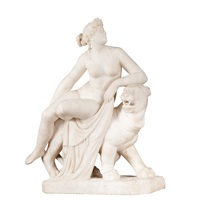 figure of ariadne seated on a panther by johan heinrich von dannecker