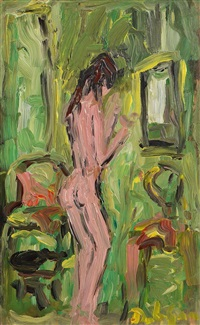 standing female nude by brian dobson
