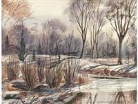 winter landscape by william kentridge