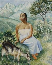 jeune malgache by georges manzana-pissarro