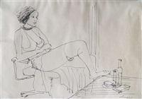 frauendarstellungen (4 works, incl. 2 in pencil) by herbert kämper