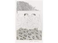 illustrations for 14 poems from c.p. cavafy by david hockney