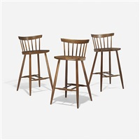 high chairs (set of 3) by george nakashima