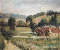 paysage le matin - la maison de gustave loiseau by georges legodard