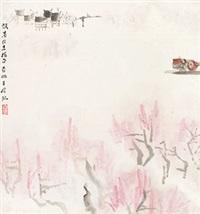 江南三月 立轴 设色纸本 by ya ming