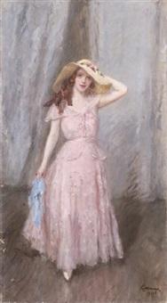 giovane donna elegante by carlo cazzaniga