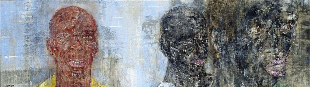 3 heads i by leon golub
