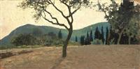 paesaggio con alberi by eugenio cecconi