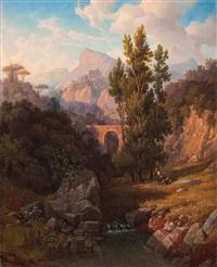 italian landscape by gustaf wilhelm palm
