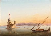 la tour de leandre, constantinople by alexandre raulin