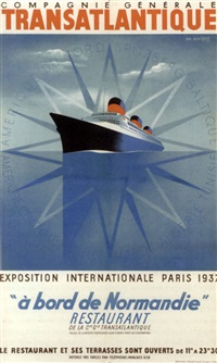 "a bord de ""normandie"", exposition internationale paris, 1937 by jean auvigne"