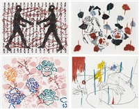 untitled suite (set of 4) by ghada amer