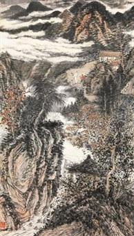 携琴访友图 by liu yanshui