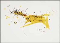 untitled (yellow) by georges mathieu
