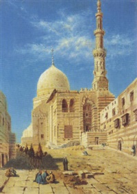 vue de la mosquée du sultan al ashraf qaytbay, le caire by torello ancillotti