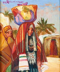 la mariée tunisienne by martin lindenau