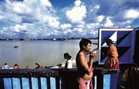 morning rituals on the river front, kolkata, india by raghu rai