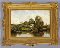 a lily pond, new england by henry pember smith