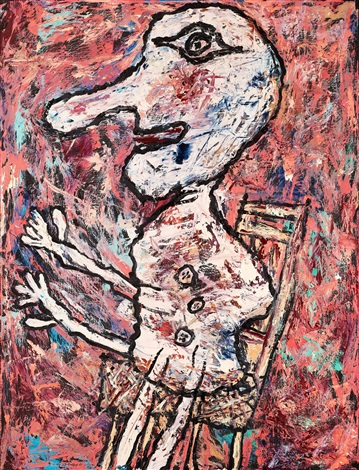 nez long et chaise septembre by jean dubuffet