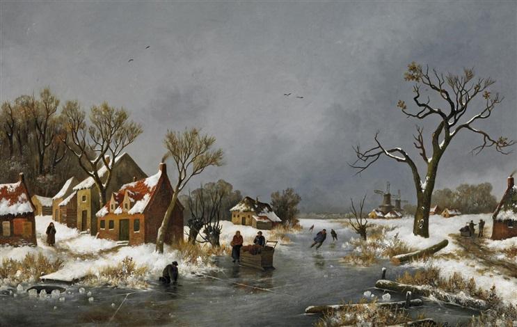 winter auf dem holländischen land by nicolaas van baarle