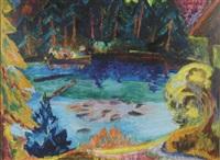 der blausee bei kandersteg by andre alexeyevich jawlensky