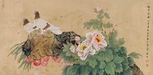 和平之春 Spring Flowers And Birds By Yu Jigao On Artnet