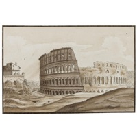 eight views of rome (8 works) by carlo labruzzi
