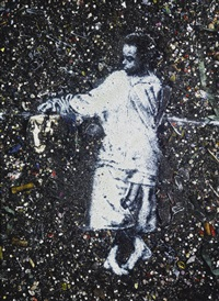 socrates (from pictures of aftermath) by vik muniz