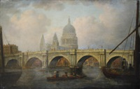 blackfriars bridge and st paul's cathedral by william marlow