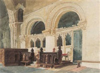 the chancel, walsoken church, norfolk by miles edmund cotman