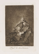 qual la descanonan! (from los caprichos) by francisco de goya