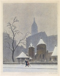 riverside church; little church around the corner (2 works) by ellison hoover