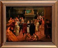 scène de banquet by louis de caullery