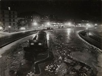 canal saint martin, paris by robert doisneau