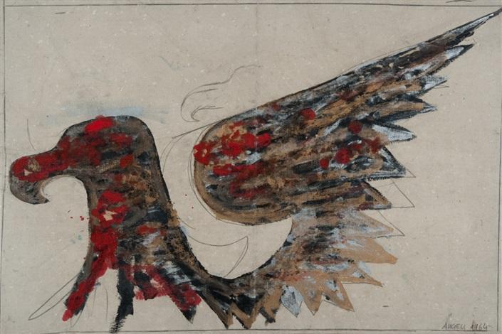 progetto per il grande quadro nero by franco angeli