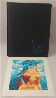 leherb - die welt eines surrealisten (portfolio of 3 w/justif. + book) by helmut leherb