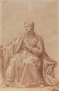 un homme assis tourné vers la gauche by fabrizio boschi