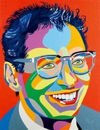 portrait d'homme aux lunettes by kiki picasso