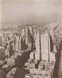the waldorf astoria from chrysler building, new york by berenice abbott