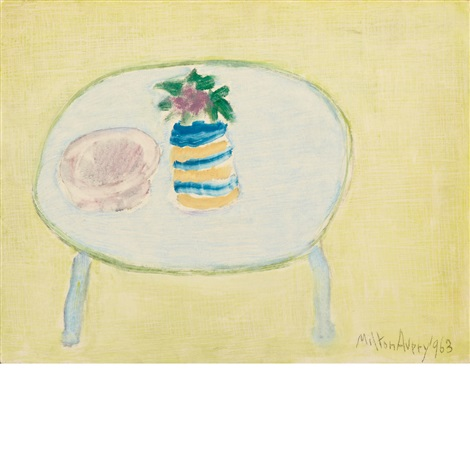 lone flower by milton avery