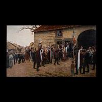 untitled - victory celebration by alfred pierre joseph jeanmougin
