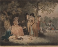 the anglers repas (after george morland) by william ward i