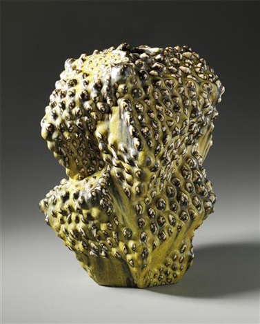 important and unique vase in the budding style by axel johann salto