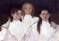 portræt af tre sostre by niels vinding dorph