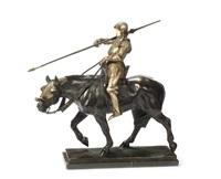 a jousting knight (fischerstechen ritter) by albert hinrich hussmann