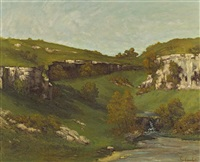 source de la loire by gustave courbet