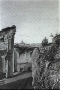 st. peter's from carracalla's baths by albert hood