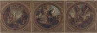 fresco designs: egalité, liberté, fraternité by alexis joseph mazerolle