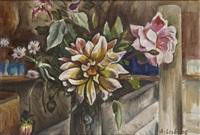 bouquet de fleurs by alfred lesbros