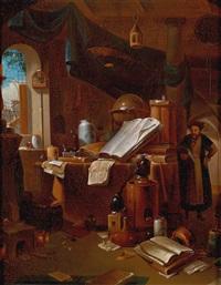 der alchimist in seinem studierzimmer by thomas wijck